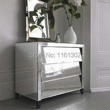 MR-401023 Beveled edged mirrored night stand/ side table/tall boy mirrored  furniture for bedroom(China (Mainland))