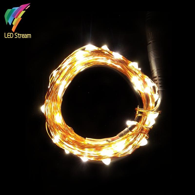 Tiny Copper String Lights : 12Vdc 10m 33FT 100led decorative Tiny LED Copper Wire Starry String Lights for Christmas ...