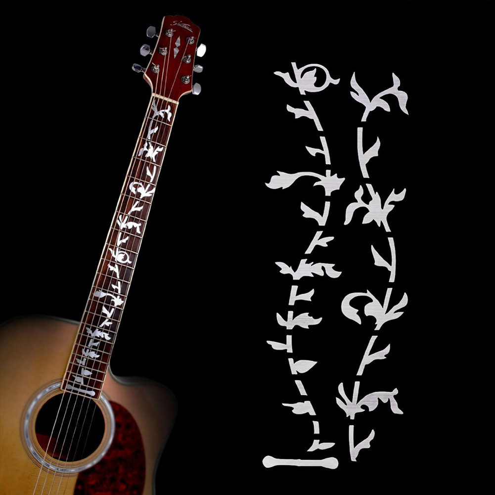 Musical Instruments Acoustic Electric Guitar Bass Fretboard Sticker DIY Vine Plant Design Art Decal Guitar Accessories FE5#(China (Mainland))