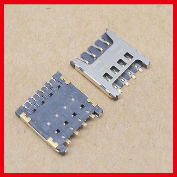 20pcs/lot SIM Card Holder Tray Slot Connector Reader Card For Coopad 8017 8021 9150W Y70-C