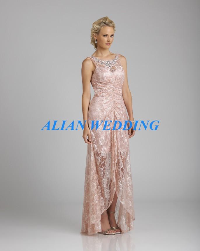 High Low Mother of the Bride Dress Tank Robe Mere De La Mariee Sheer ...