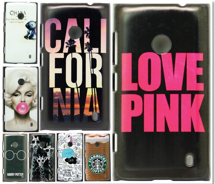 New Fashion For Nokia Lumia 520 CaseUnique Coffee Logo Skin Style Design Durable Plastic Hard Protective Mobile Phone Cover(China (Mainland))