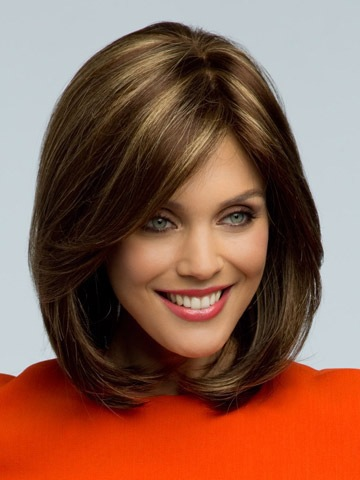 2015 Peluca Peruca Sexy Bob Synthetic hair wigs Medium Long Straight Brown Wig for women Full wig with Side bangs Free shipping<br><br>Aliexpress