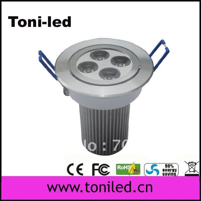 Free Shipping hi power round Square downlight High quality 4*3W 12w led downlight