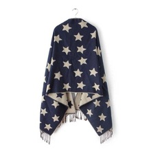 2016 New Designer Scarf 200*65cm Wool Winter Scarf Women Scarves Five-Pointed Star Blanket Long Cashmere Scarf shawls For moman(China (Mainland))