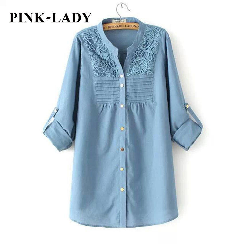Plus Size Maxi Women Clothing Fashion Lace Crochet Long Sleeve Cotton and Linen Blouse Ladies Casual Shirts Tops XL 2XL 3XL 4XL(China (Mainland))