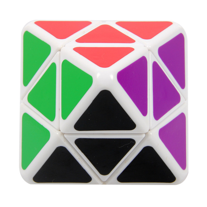 2014 New Brand New LanLan Axis Octahedral Magic Cube Professional 2x2x2 IQ Test Speed Puzzle Cubo Magico Educational Special Toy(China (Mainland))