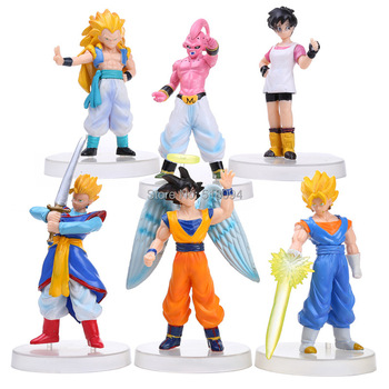 Anime Cartoon Dragon Ball Z PVC Figures Toys Animation model Super Saiyan Goku Collection 6pcs/set DBFG002