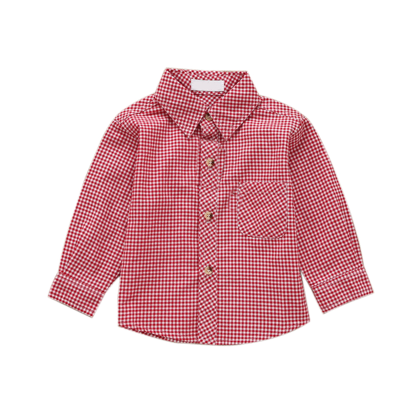 1 2 3 4 Year toddlers babies plaid shirts for kids clothes boys dress shirt long sleeve baby blouses shirts for girls boy top(China (Mainland))