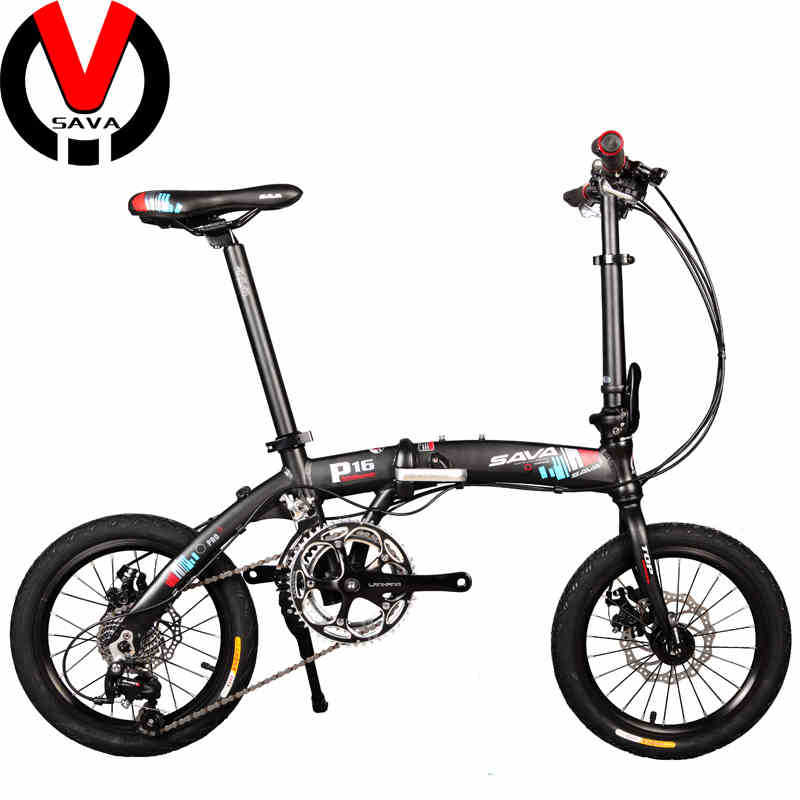 SAVA P16 Unisex Mini Folding MTB Mountain Bicycle Lightweight Foldable Bike 16'' Bicicleta Microshift Derailleur Folding Bike(China (Mainland))