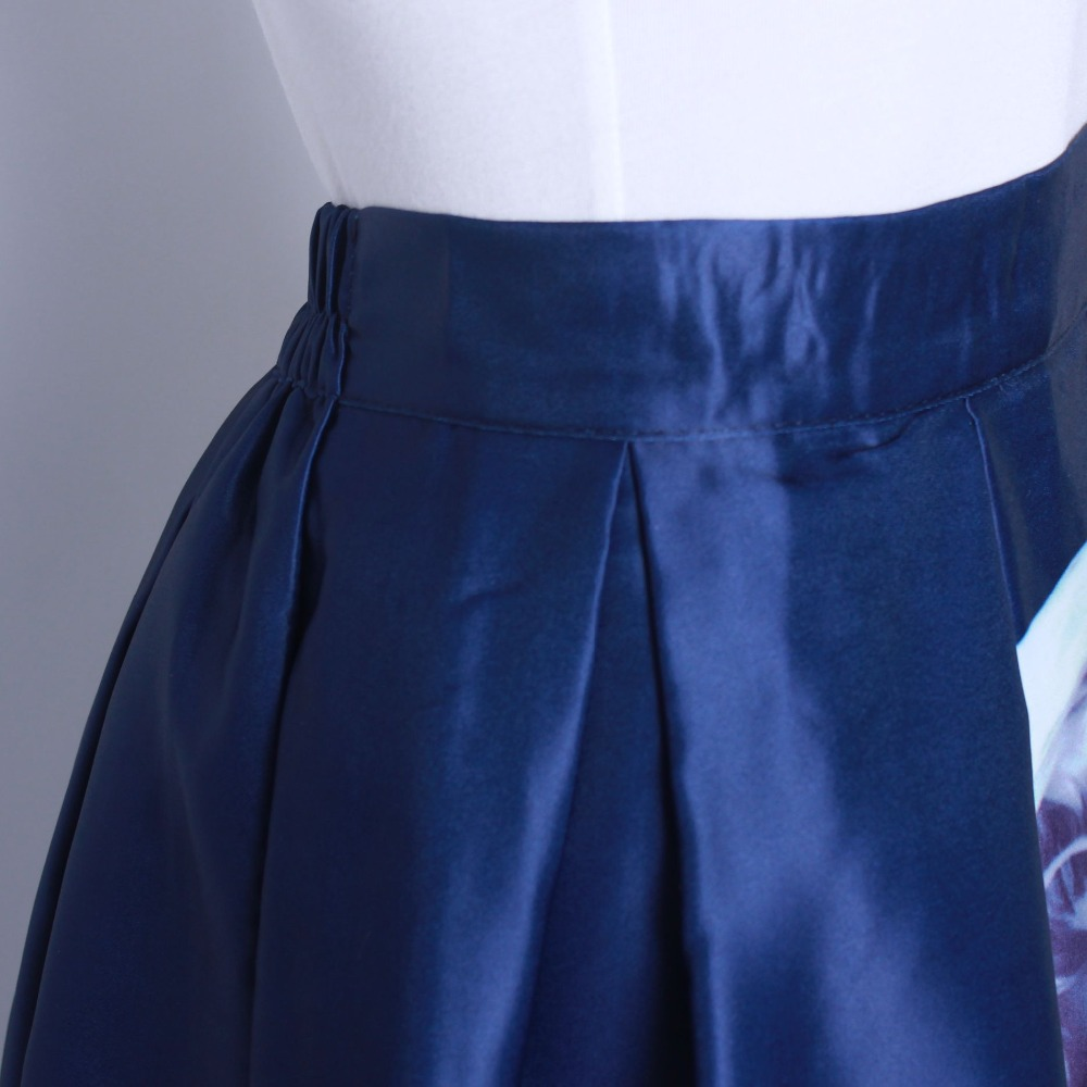 HTB1SSKkQFXXXXaAXVXXq6xXFXXXB - GOKIC 2017 Summer Women Vintage Retro Satin Floral Pleated Skirts Audrey Hepburn Style High Waist A-Line tutu Midi Skirt