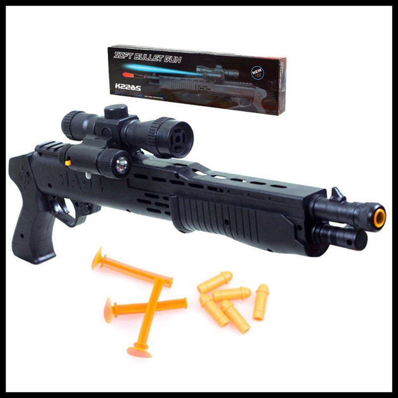 Most country Guns With Flashing Night Light Collimator Toy Guns Classic Toys For Boys Children Role Play Games<br><br>Aliexpress