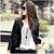 Free Shipping PU Leather jacket Women,Autumn Winter Slim Black Motorcycle jacket ,Fashion Designers Plaid Leather 5301