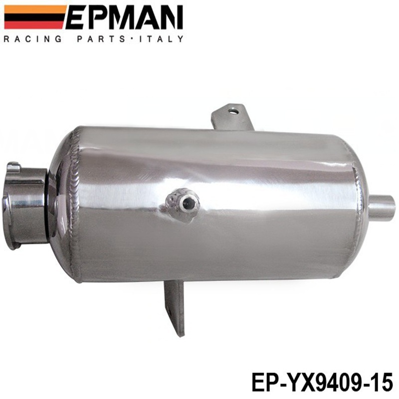 EPMAN Universal Alloy Polished water tank & oil catch can 1.5L Round Water Catch Can Fuel Tank EP-YX9409-15(China (Mainland))