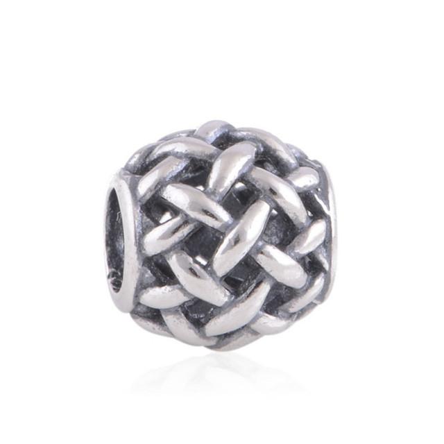Подходит оригинальный браслет 925 бусины вязать мяч по образцу европейских подвески DIY ювелирных изделий оптовая продажа