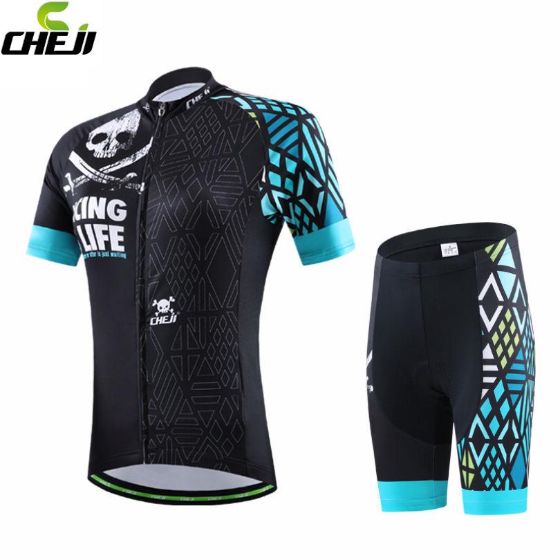 2016 CHEJI Womens Bike Bicycle Jersey Ropa Ciclismo Cycling Clothing Racing Clothing Suit GEL Shorts Set Black-Green <br><br>Aliexpress