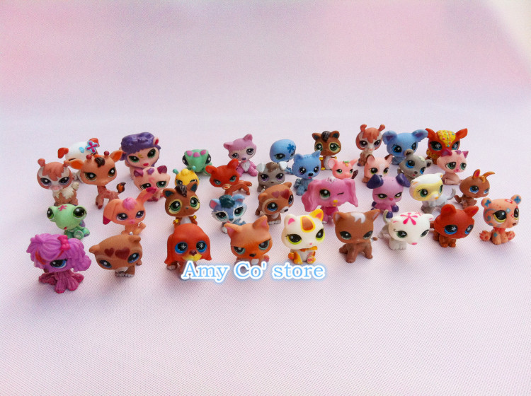 10 pcs/lot Littlest Pet Shop LPS Animals Loose PVC Action Figures Collection Toys Doll Kids Gift Free Shipping(China (Mainland))