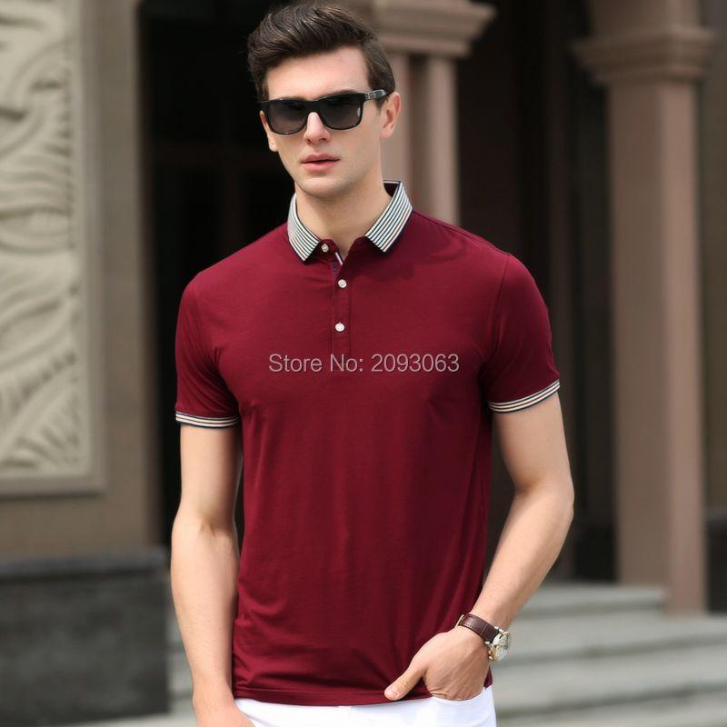 Fashion Casual High Quality Summer Men's T- Shirts Men Business New Brand Short Sleeve Turn Collar Cotton T Shirt Plus Q-PF-02(China (Mainland))