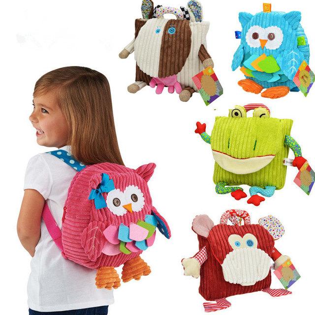 5 фирменный стиль дети рюкзак сумка детский сад девушки парни милые игрушки мультфильм ребенок школьные сумки сова животных мультфильм школьные сумки