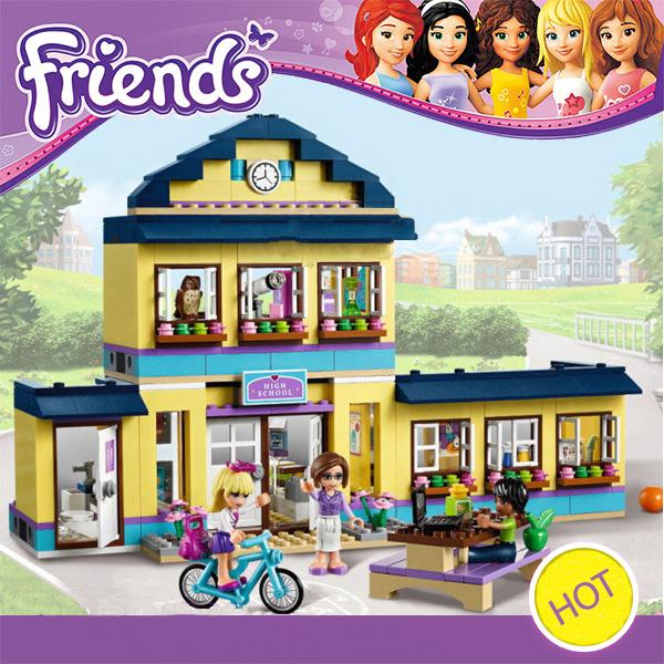 10166 BELA Girls Friends City School Building Block Minifigures 48Assemble Bricks DIY Blocks Toys Gift - Kay Chen's store