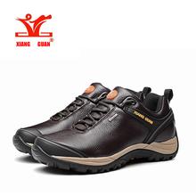 2016 XIANGGUAN Man hiking shoes Genuine leather Keep warm, men's Outdoor sneakers Waterproof sport shoes Cheap Sale 39-44(China (Mainland))