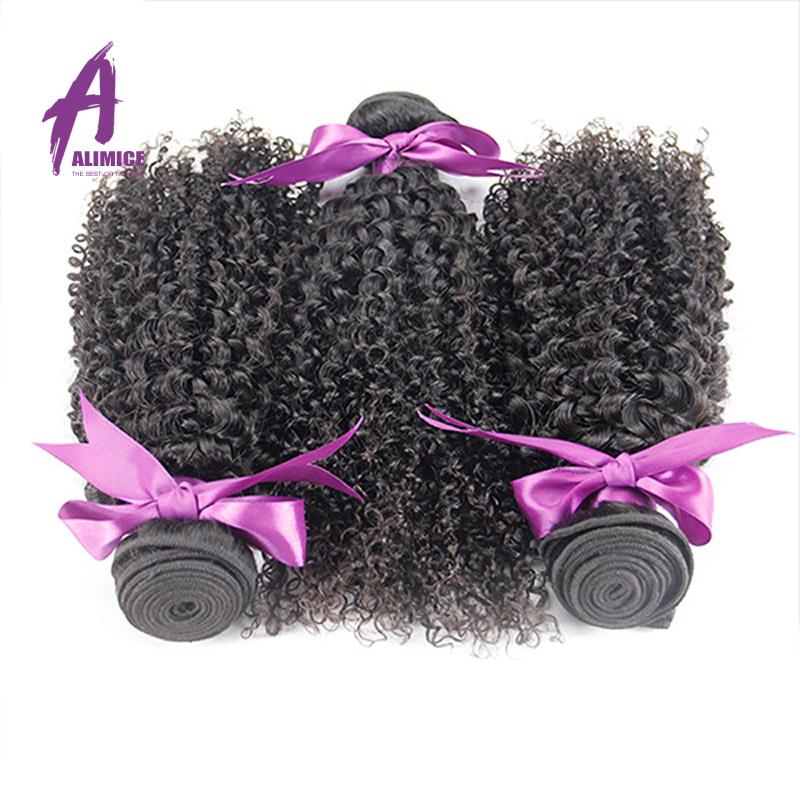 Grade 6a Peruvian Kinky Curly Virgin Hair Alimice Hair Products 3 pcs Peruvian Curly Virgin Hair Human Hair Extension Bundles <br><br>Aliexpress