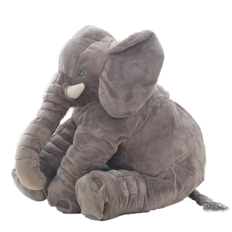 Fashion 60cm Baby Stuffed Animal Elephant Style Doll Plush Pillow Kids Toy For Children Room Bed For 0-12 Months -- BYC142 PT49(China (Mainland))