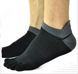 1 пара/Много Новые Носки мужские хлопок Спорт Пять пальцев носки Палец на ноге Носки ...
