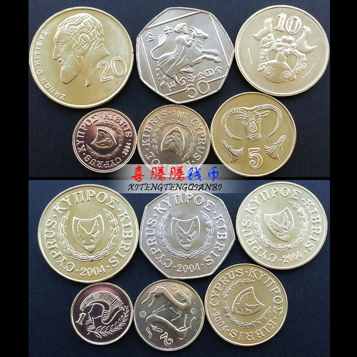 New Cyprus 6 pcs coins 100% Real genuine collection(China (Mainland))