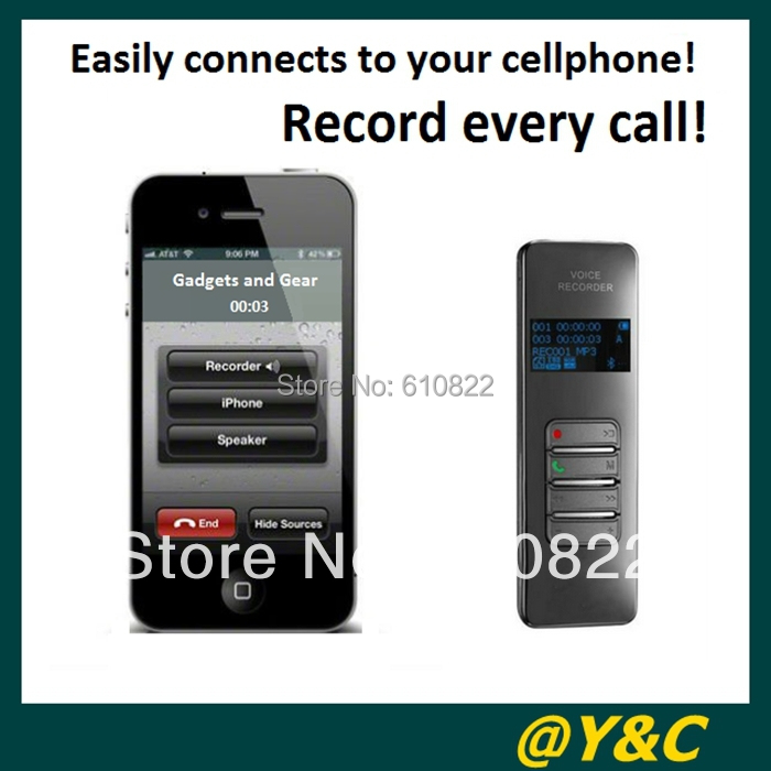 Hot selling! 8GB Bluetooth voice recorder with metal Shell VOSVOR system call phone recording free china post(China (Mainland))