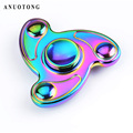 Turbine Hand spinner Tri Spinner Fidget spinner toy Colorful metal EDC Speelgoed For Autism and ADHD