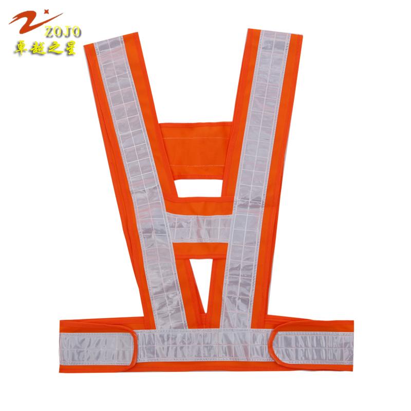 V180-1 ZOJO Brand Vest Size 60*56cm Adjustable Safety Inspection Jacket Unisex Reflective Vest Lattice Slice Safety Clothing(China (Mainland))