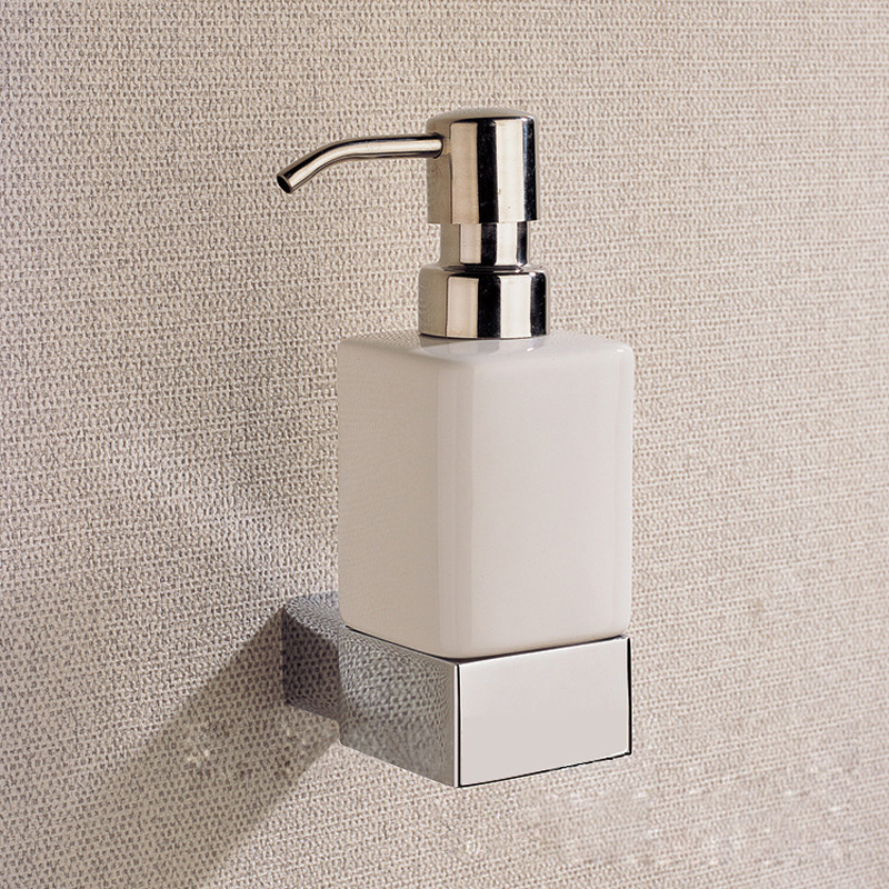 Chrome liquid soap dispenser holder with whole brass for Bathroom soap dispensers bath accessories