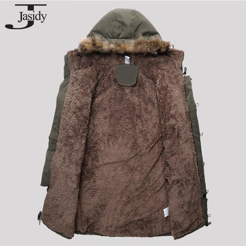 M 3XL X Long Fleece Hat Winter parkas Men Zipper Warm Winter Coat Men Solid Casual