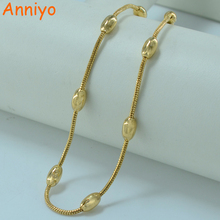 Buy Anniyo 45CM/ Necklace Gold Color Jewelry Fashion Chain Women's Fashion Ethiopian Africa Jewellery GP #002412 for $3.18 in AliExpress store
