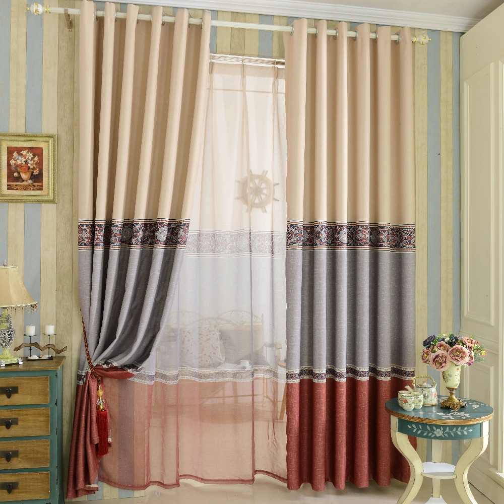 Simple Design Printed Blackout Curtain Home Blackout Blind