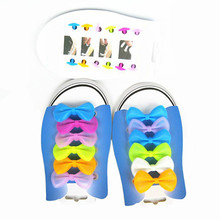 12 Pcs/Lot Bow Shoelace Silicone Noctilucent Shoelaces Fashion Colorful Elastic Silicone Shoelaces No Need To Tie Lazy Shoelaces