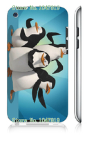 Mobile Phone Case Retail 1pc penguins Protective White Hard Case Cover For ipod touch 4 4th Free Shipping