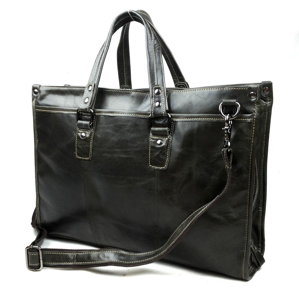 Real Cowhide Leather Men Briefcases Bags Quality Vintage Men Bags Mens Shoulder tote mens messenger travel bag 2015 free ship<br><br>Aliexpress
