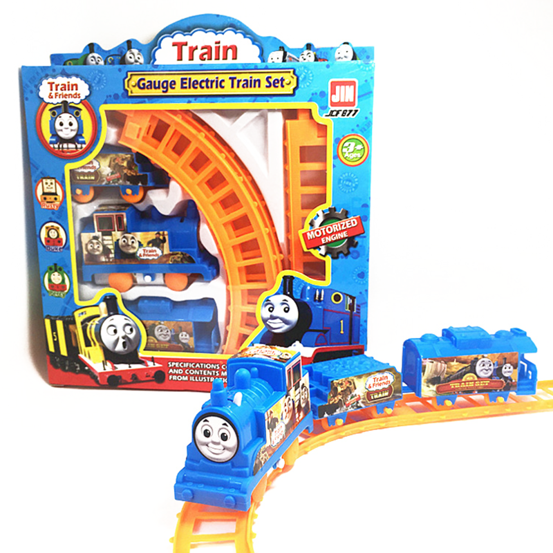 1 Set Kids Baby Interesting Electric Anime Machines Railway Trains Model Vehicles Toys Gifts for Children Boy Christmas Party(China (Mainland))