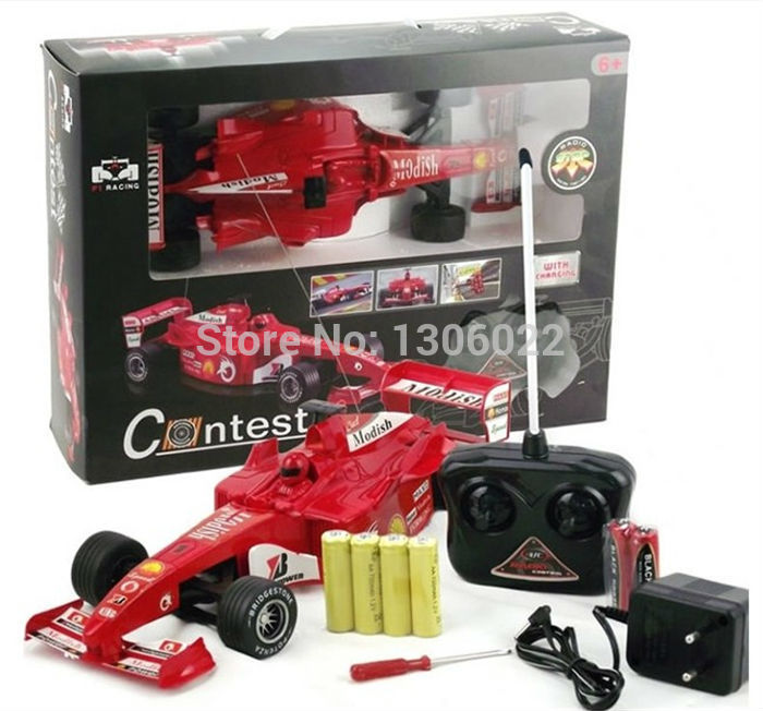 1 18 chelle rc f1 pour formule 1 une course voiture lectrique t l commande cadeau de mod le. Black Bedroom Furniture Sets. Home Design Ideas