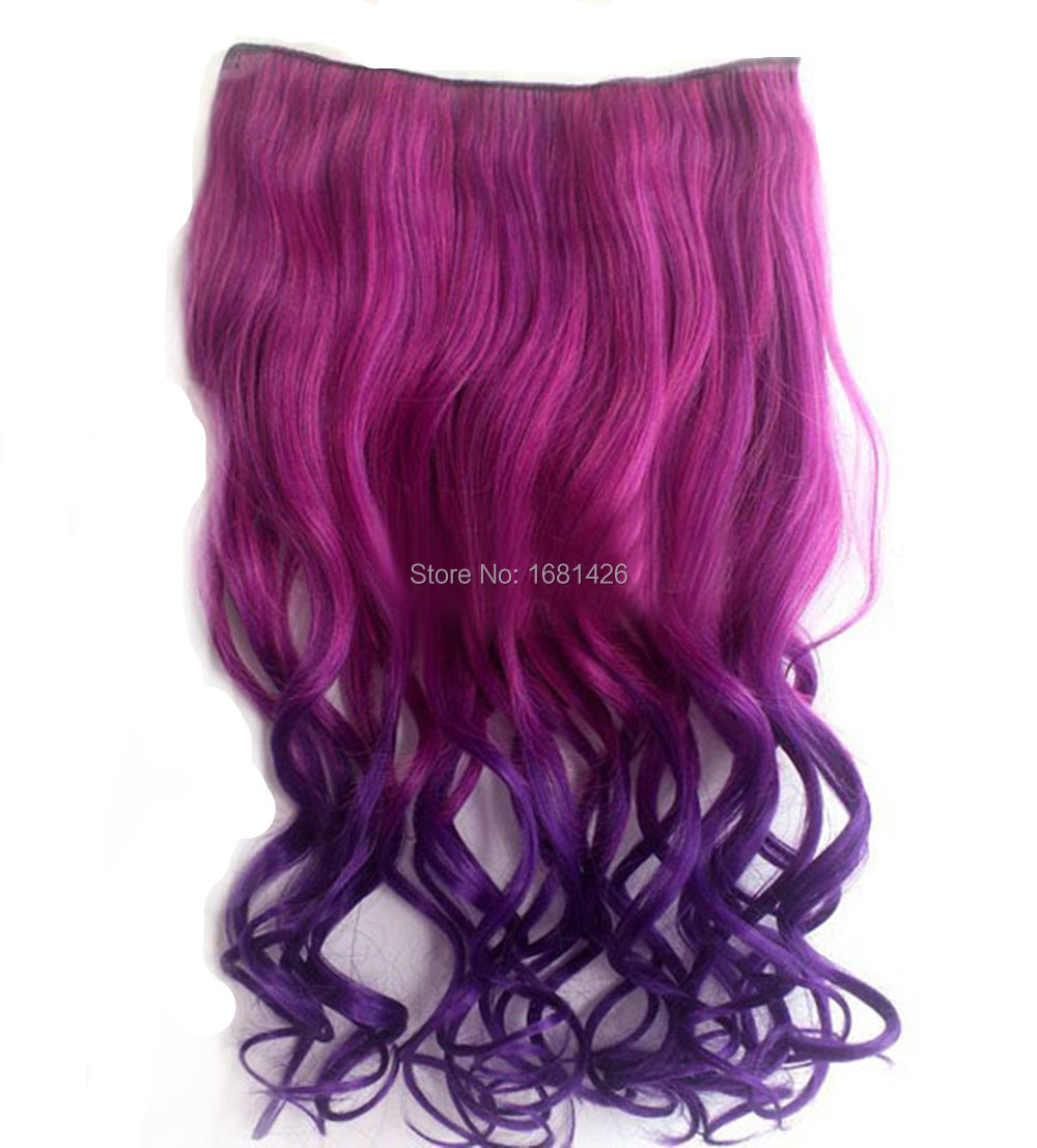 Dreamwig-24-Inch-Red-to-Dark-Purple-Ombre-Color-Curl-Full-Head-Hair    Dark Red Purple Color