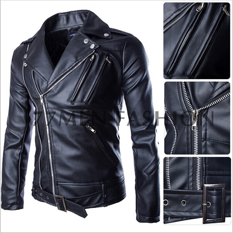 Leather Jacket Men Black - Jacket