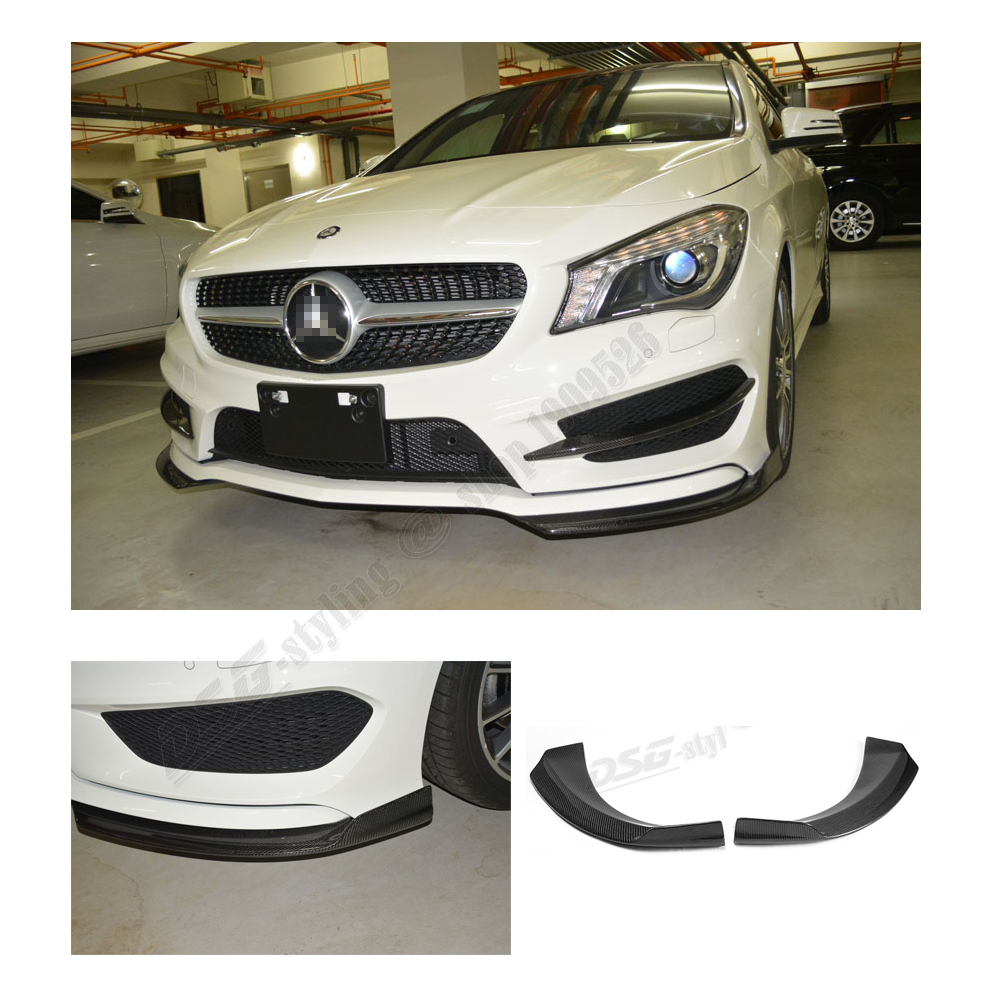 Mercedes CLA Class W117 2014+ Front Bumper Lip Splitter Spoiler Cup Spoiler for CLA180 CLA200 CLA220 CLA250 CLA45