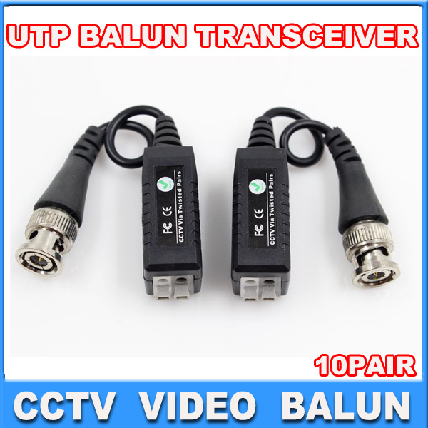 CCTV  Video Balun Connector  BNC UTP CAT5 Video Balun Twistered Pair Transceiver Cable 10pairs<br><br>Aliexpress