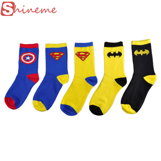 Skarpetki bawełniane unisex wzór superbohater