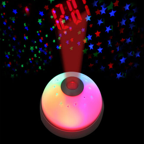 New 2015 hot unique magic led color change projection projector alarm clock great gift for kids - Unique alarm clocks for teenagers ...