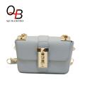 QUBABOBO Fresh Chain Women Messenger Bags Luxury Brand PU Leather Handbags 3 Layers Candy Color Crossbody