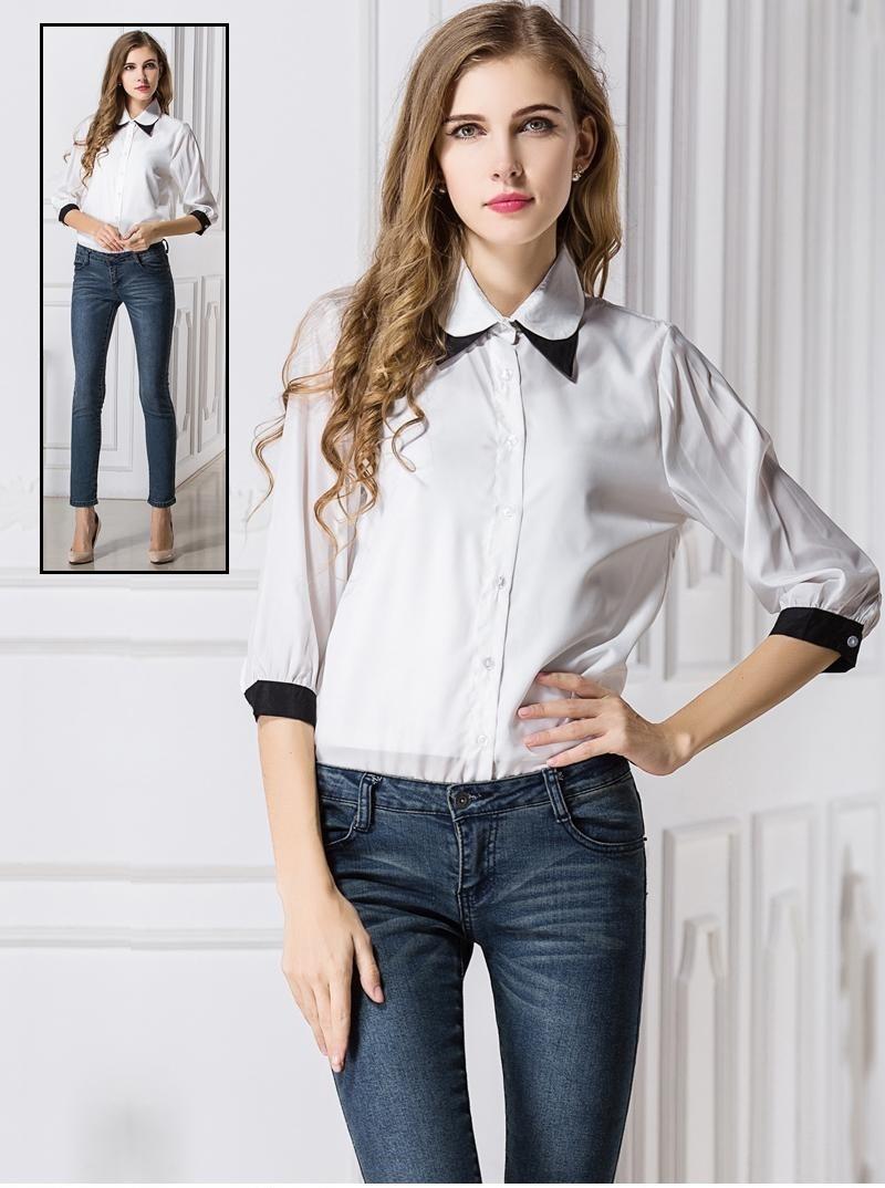 Белые Рубашки И Блузки