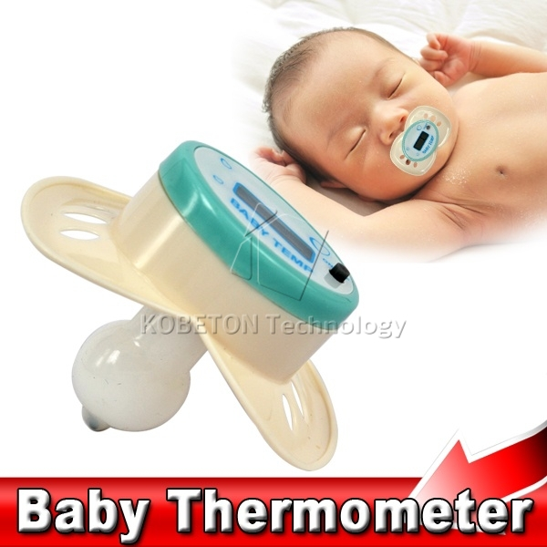 Soft Safe Mini Digital LCD Infant Baby Nipple Thermometer Electronic Soother Pacifier Thermometer Temperature Meter Gauge Tester(China (Mainland))